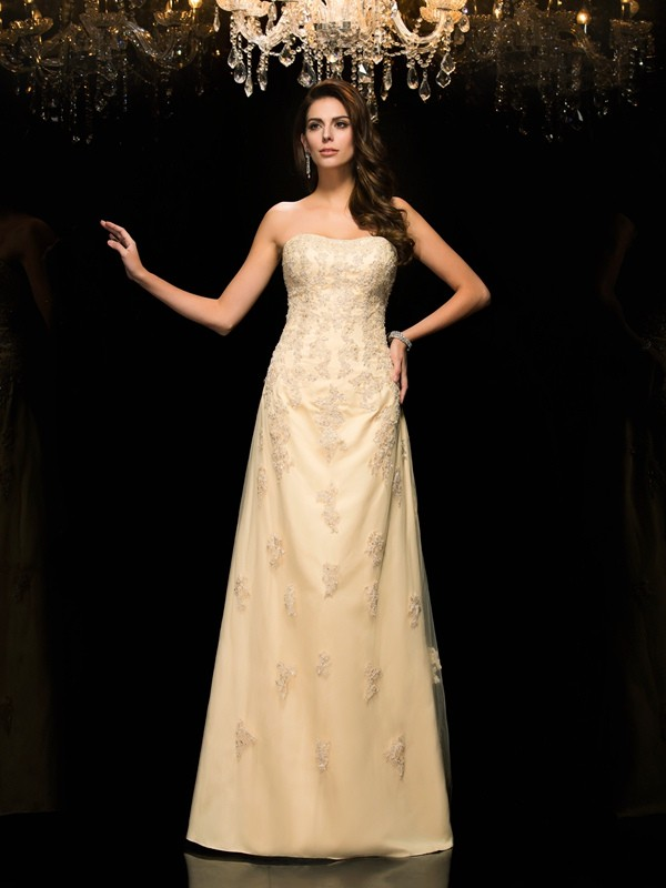 Amazing A-Line Sweetheart Sleeveless Long Net Mother of the Bride Dress