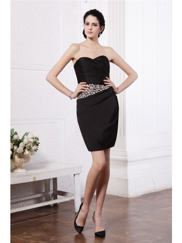 Hot Sale Sheath Sweetheart Sleeveless Short Chiffon Damask Cocktail Dress