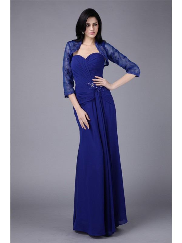 Hot Sale Sheath Sweetheart Chiffon Mother of the Bride Dress