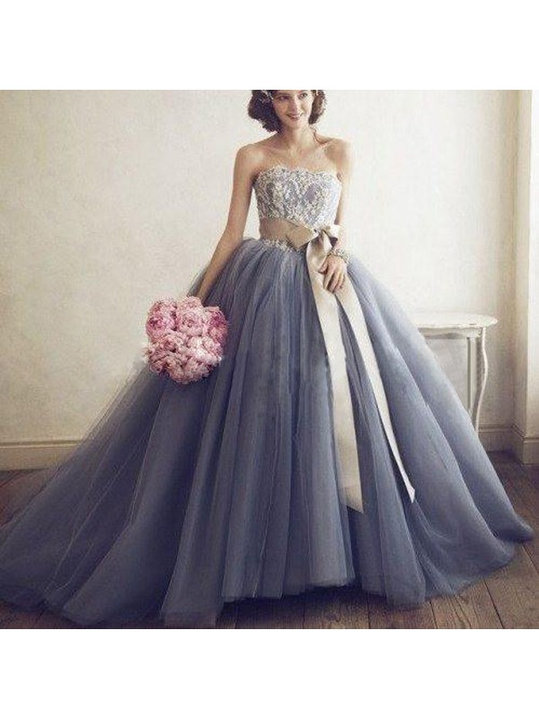 Perfect Ball Gown Sweetheart Sleeveless Tulle Sweep/Brush Train Dress