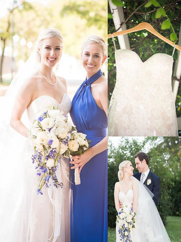 Exquisite A-Line Sweetheart Sweep/Brush Train Tulle Sleeveless Wedding Dress