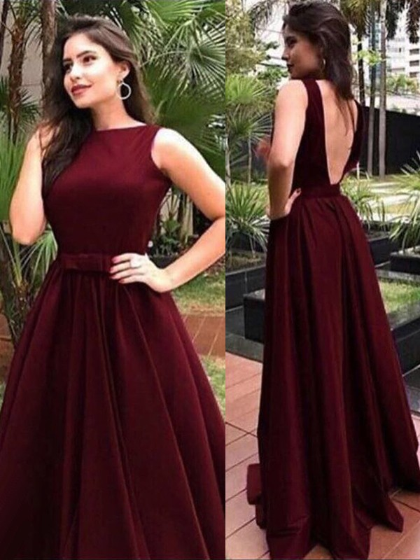 Amazing A-Line Sleeveless Bateau Floor-Length Velvet Dress