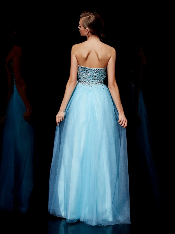 Beautiful Ball Gown Sweetheart Sleeveless Long Tulle Dress