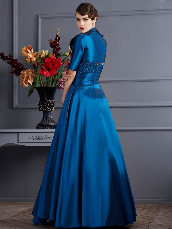 Fashion A-Line Sweetheart Sleeveless Long Taffeta Mother of the Bride Dress