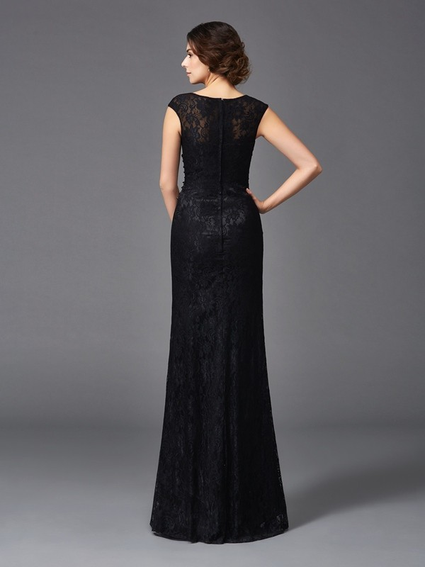 Amazing Sheath Scoop Sleeveless Long Lace Mother of the Bride Dress