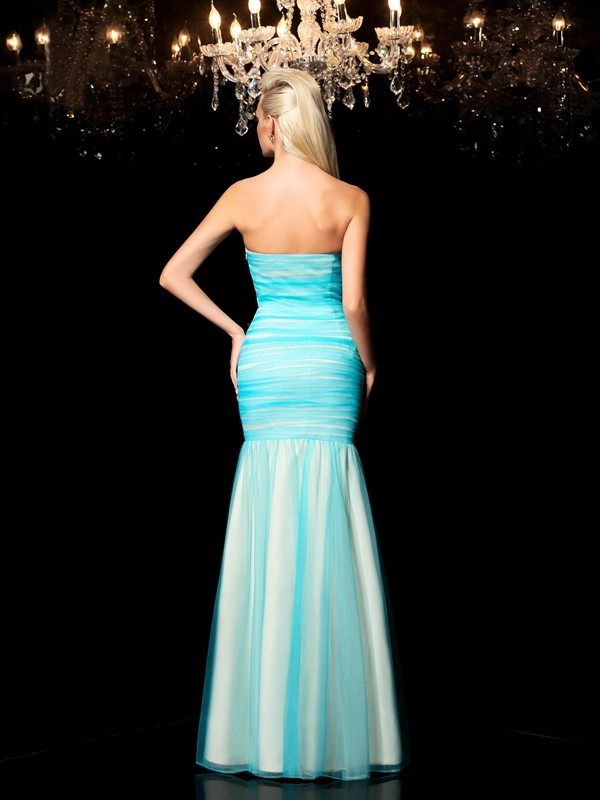 Glamorous Sheath Sweetheart Sequin Sleeveless Long Net Dress