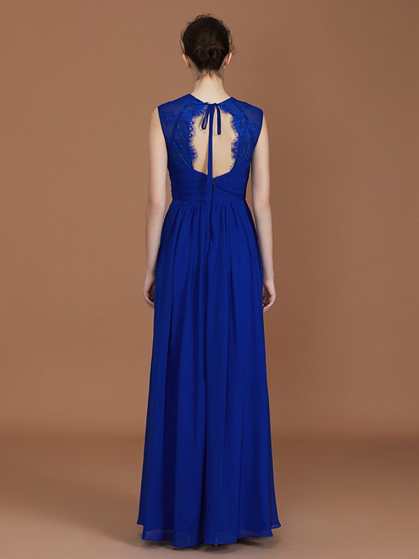 Nice A-Line Sweetheart Sleeveless Floor-Length Chiffon Bridesmaid Dress
