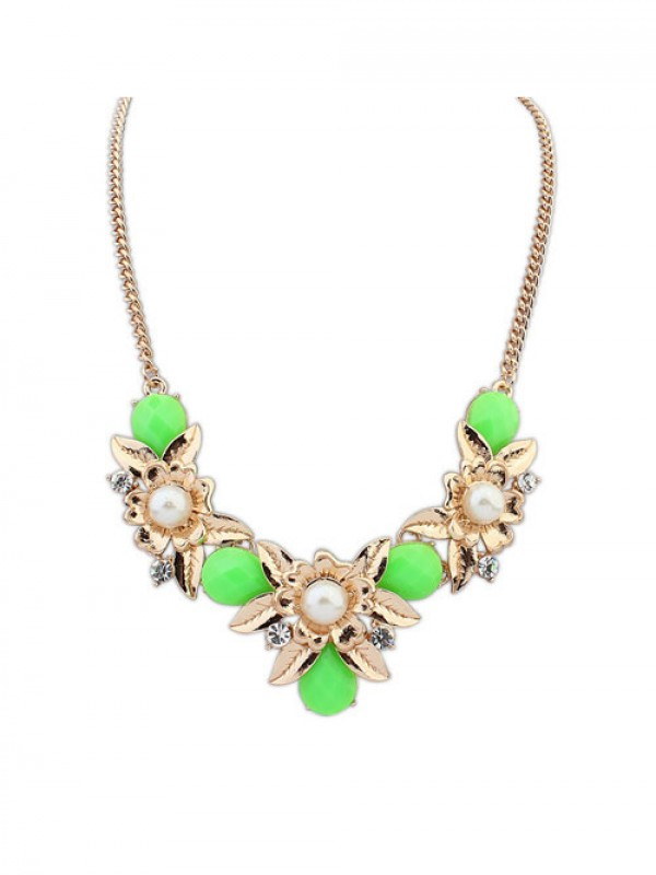 Stylish Occident Bohemia Geometry Flowers Necklace