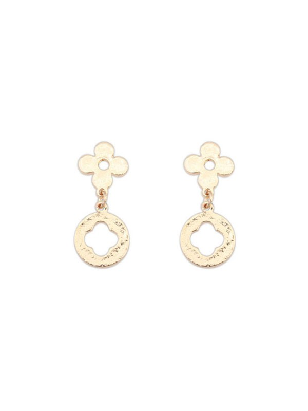 Gorgeous Occident All-match Leaf clover Earrings
