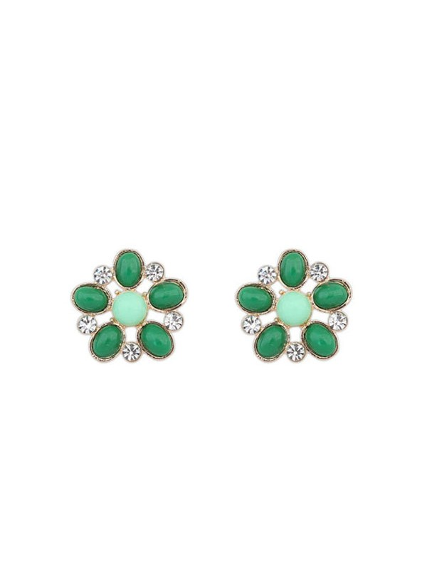 Gorgeous Occident Bohemia Big Flower Style Stud Earrings