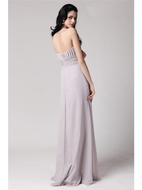 Hot Sale Sheath Strapless Sleeveless Chiffon Mother of the Bride Dress