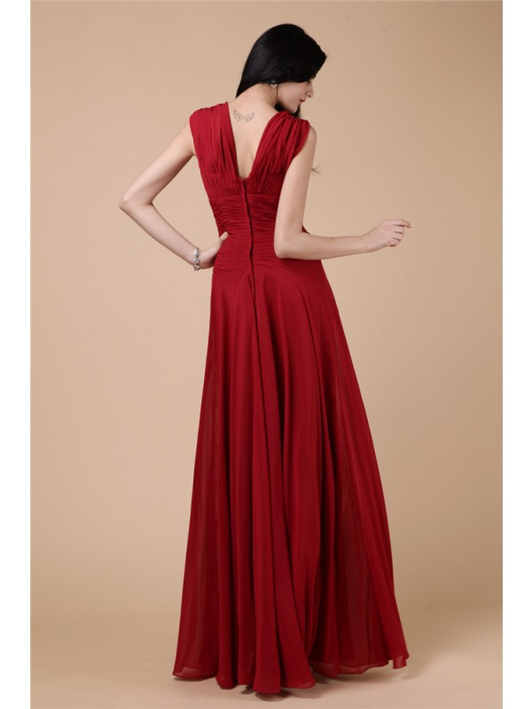 Hot Sale Sheath Long Chiffon Dress