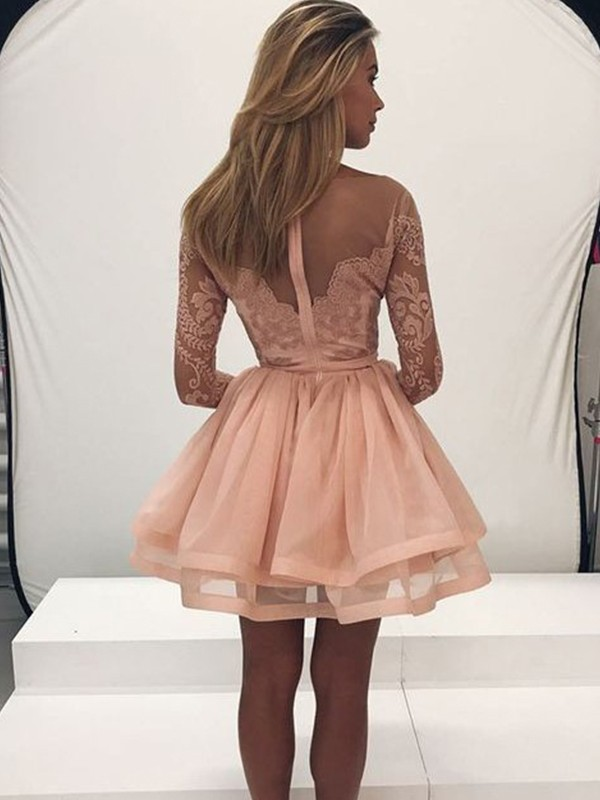 Discount A-Line Scoop Organza Short Dress